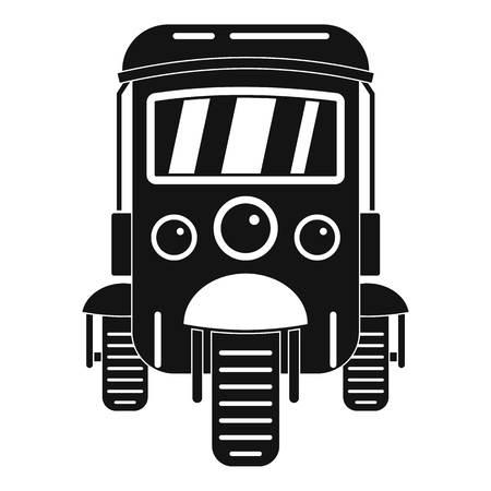 Auto rickshaw icon. Simple illustration of auto rickshaw vector icon for web design isolated on white background Vetores