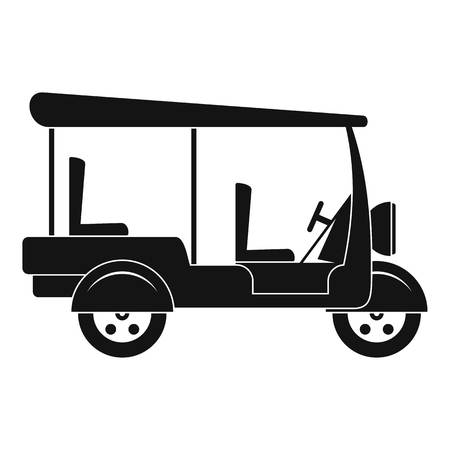 Taxi rickshaw icon. Simple illustration of taxi rickshaw vector icon for web design isolated on white background