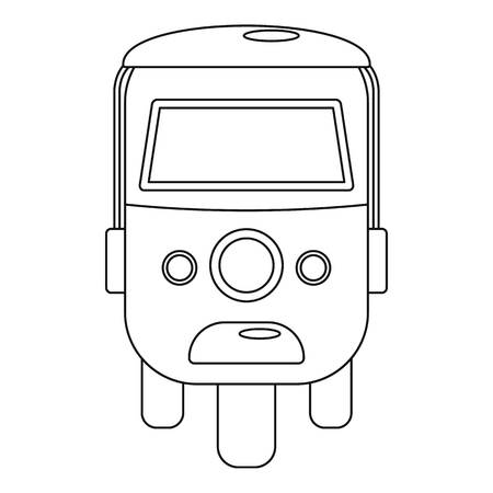 Rickshaw icon. Outline illustration of rickshaw vector icon for web design isolated on white background Ilustração