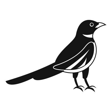 Native magpie icon. Simple illustration of native magpie vector icon for web design isolated on white background