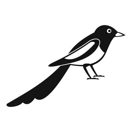 Jonge ekster pictogram. Eenvoudige illustratie van jonge ekster vector pictogram voor webdesign geïsoleerd op een witte achtergrond