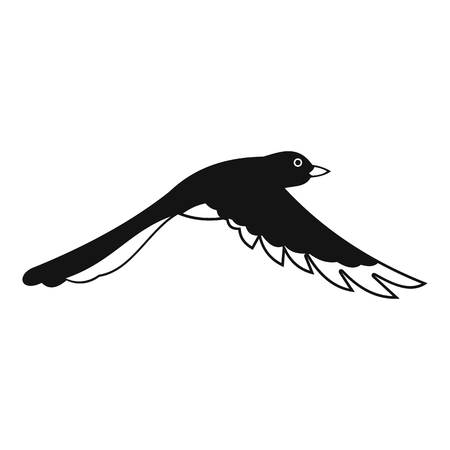 Flying magpie icon, simple style Banque d'images - 105058452
