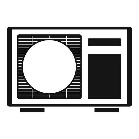 Buiten conditioner radiator pictogram. Eenvoudige illustratie van outdoor conditioner radiator vector pictogram voor webdesign geïsoleerd op een witte achtergrond Vector Illustratie