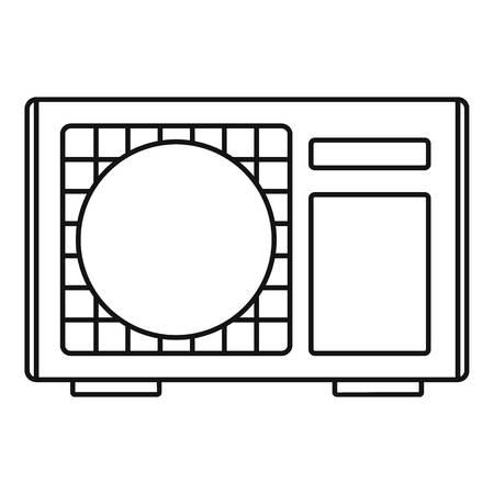 Buiten conditioner radiator pictogram. Overzichtsillustratie van buiten conditioner radiator vector pictogram voor webdesign geïsoleerd op een witte achtergrond