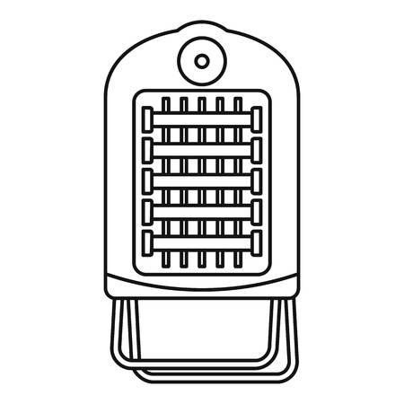 Hot small convector icon, outline style