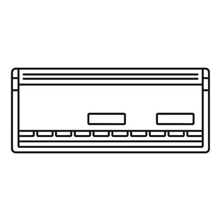 Automatic conditioner icon, outline style