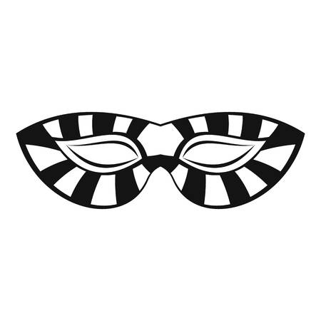 Stripped carnival mask icon. Simple illustration of stripped carnival mask vector icon for web design isolated on white background