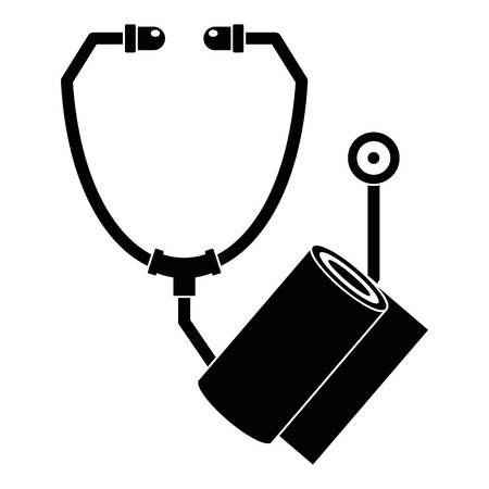 Stethoscope, bandage icon, simple style