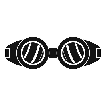 Welding glasses icon. Simple illustration of welding glasses vector icon for web design isolated on white background Illustration