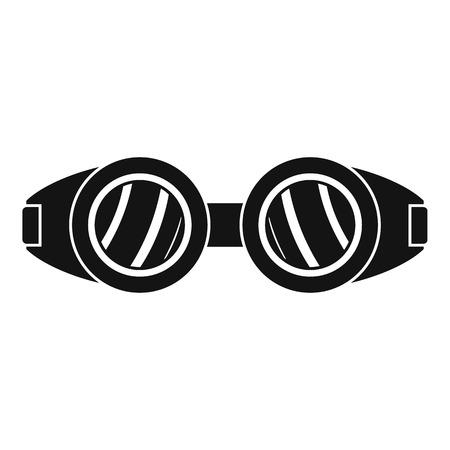 Symbol für Schweißbrillen. Einfache Illustration des Schweißensbrillenvektorsymbols für das Webdesign lokalisiert auf weißem Hintergrund
