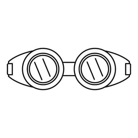 Symbol für Schweißbrillen. Umreißen Sie die Illustration des Schweißensbrillenvektorsymbols für das Webdesign, das auf weißem Hintergrund lokalisiert wird