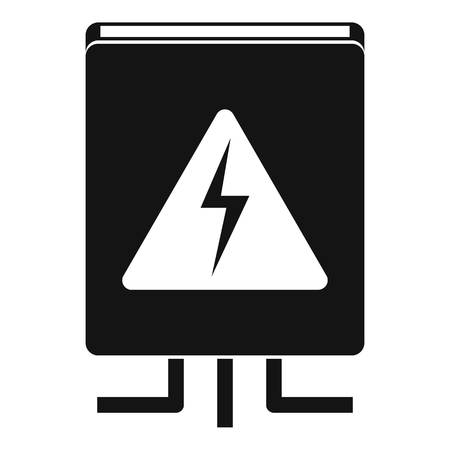 Electrical box icon. Simple illustration of electrical box vector icon for web design isolated on white background