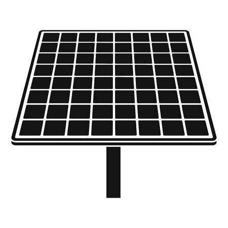 Solar brand panel icon, simple style Illustration