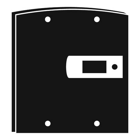 Electric door icon, simple style