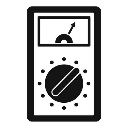 Analog multimeter icon. Simple illustration of analog multimeter vector icon for web design isolated on white background