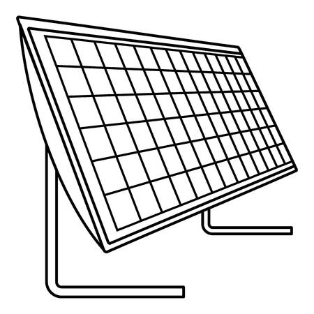 Battery solar panel icon. Outline illustration of battery solar panel vector icon for web design isolated on white background  イラスト・ベクター素材