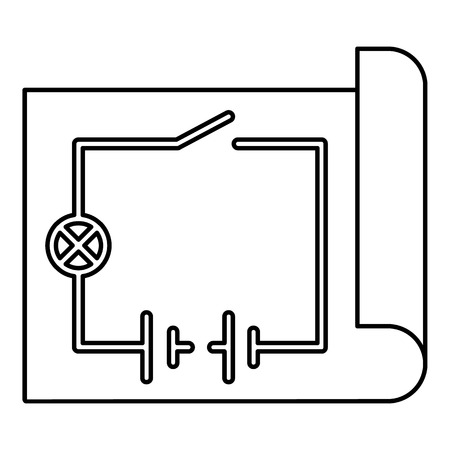 Electric scheme icon. Outline illustration of electric scheme vector icon for web design isolated on white background