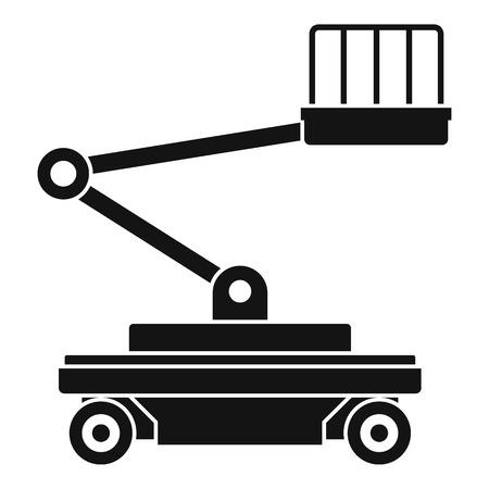 Icône de service de levage. Illustration simple de l'icône de vecteur de service d'ascenseur pour la conception web isolé sur fond blanc Vecteurs