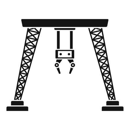 Port hand crane icon. Simple illustration of port hand crane vector icon for web design isolated on white background