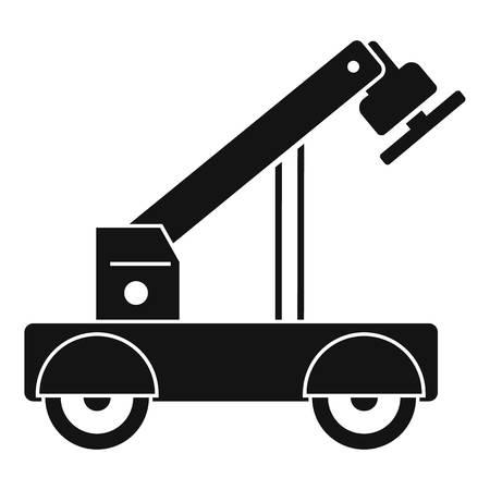 Icône de grue magnétique. Simple illustration de l'icône vecteur grue aimant pour la conception web isolé sur fond blanc Vecteurs