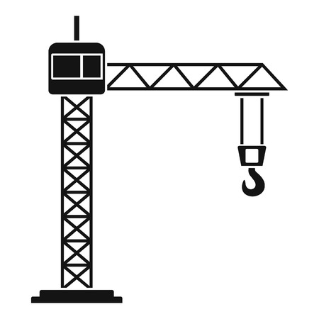 Construction crane icon. Simple illustration of construction crane vector icon for web design isolated on white background