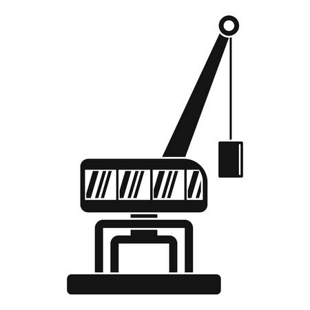 Destroy crane icon. Simple illustration of destroy crane vector icon for web design isolated on white background