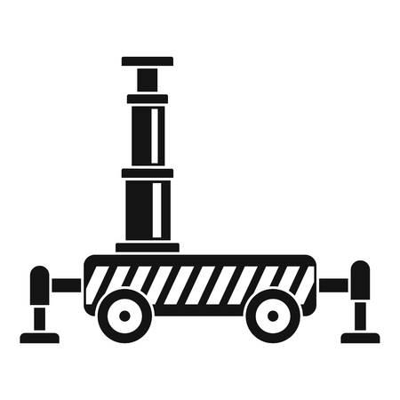 Icône de grue hydraulique. Simple illustration de l'icône vecteur grue hydraulique pour la conception web isolé sur fond blanc