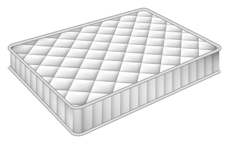 Mattress bed mockup. Realistic illustration of mattress bed vector mockup for web design isolated on white background Illustration