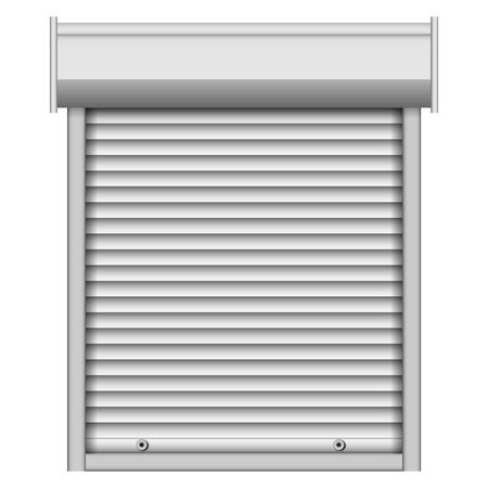 Security louver mockup, realistic style