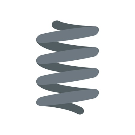 Car spring coil icon. Flat illustration of car spring coil vector icon for web isolated on white