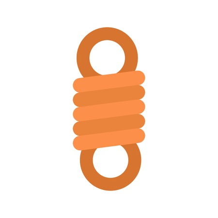 Double spring coil icon. Flat illustration of double spring coil vector icon for web isolated on white  イラスト・ベクター素材