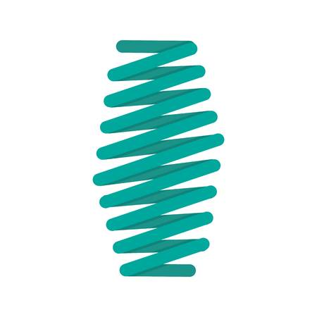 Fat spring coil icon. Flat illustration of fat spring coil vector icon for web isolated on white Ilustracja