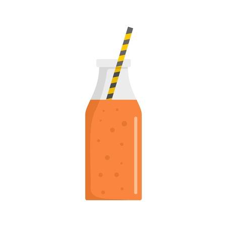 Mango smoothie icon. Flat illustration of mango smoothie vector icon for web isolated on white