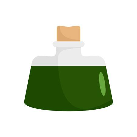 Dark green potion icon. Flat illustration of dark green potion vector icon for web isolated on white