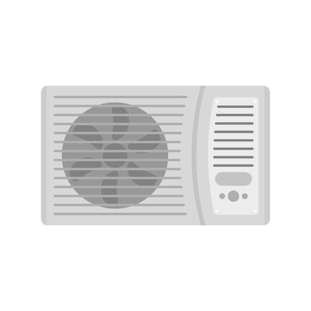 Outdoor air conditioner fan icon. Flat illustration of outdoor air conditioner fan vector icon for web isolated on white