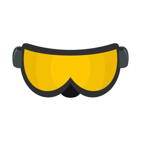 Ski glasses icon. Flat illustration of ski glasses vector icon for web isolated on white Vektorgrafik