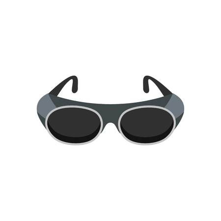 Welding glasses icon. Flat illustration of welding glasses vector icon for web isolated on white Vettoriali