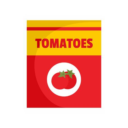 Tomatoes can icon. Flat illustration of tomatoes can vector icon for web isolated on white
