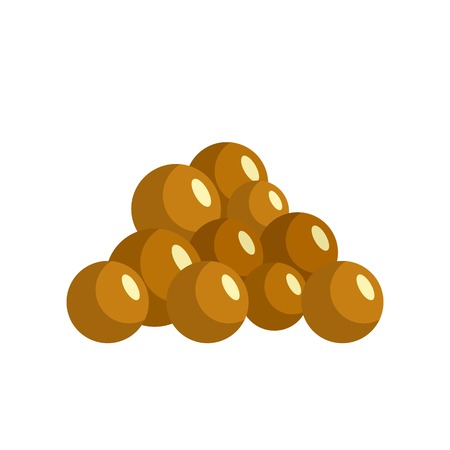 Mustard seed icon. Flat illustration of mustard seed vector icon for web isolated on white Standard-Bild - 114781773