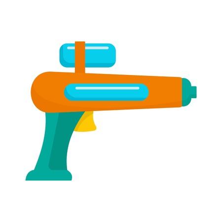Watergun pictogram, vlakke stijl Vector Illustratie