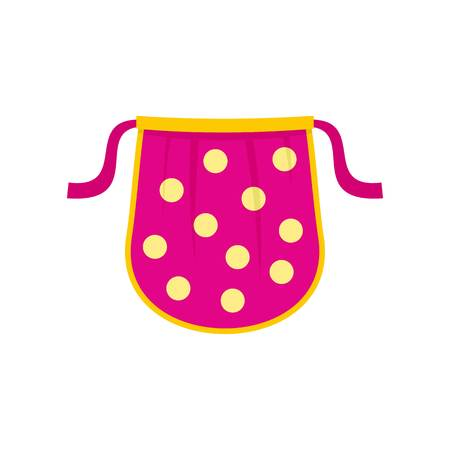 Kid apron icon. Flat illustration of kid apron vector icon for web isolated on white
