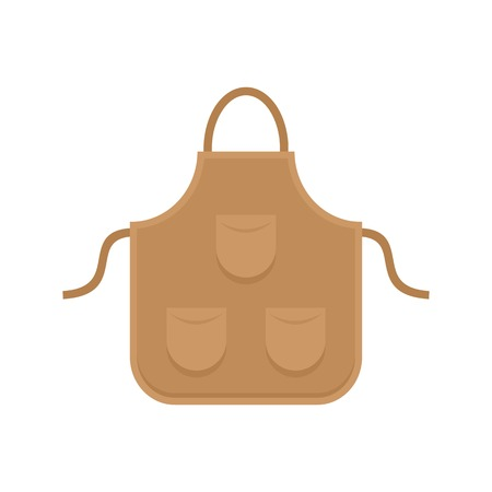 Carpenter apron icon. Flat illustration of carpenter apron vector icon for web isolated on white Vectores