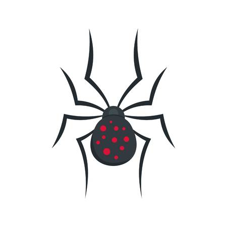 Spider icon. Flat illustration of spider vector icon for web isolated on white