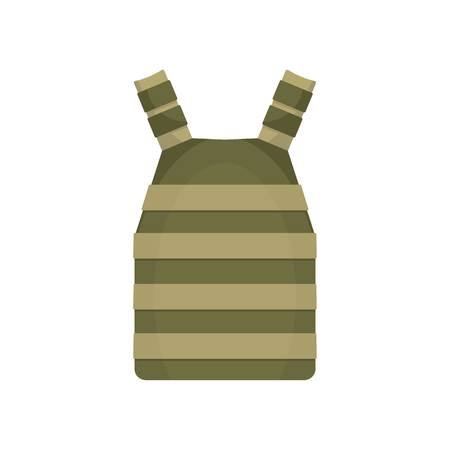 Army vest icon, flat style