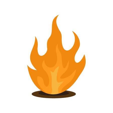Eternal fire icon. Flat illustration of eternal fire vector icon for web isolated on white Illustration