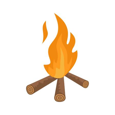 Hunting fire icon. Flat illustration of hunting fire vector icon for web isolated on white