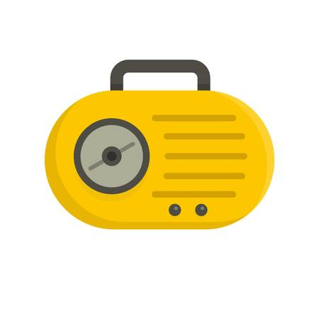 Mini radio icon, flat style Illustration
