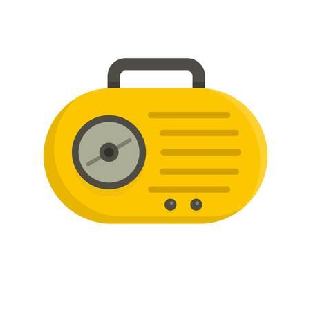 Mini radio icon, flat style Ilustração