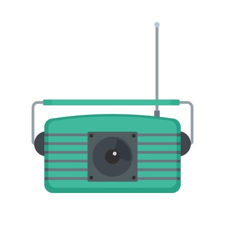 Center fm radio icon. Flat illustration of center fm radio vector icon for web isolated on white Illustration