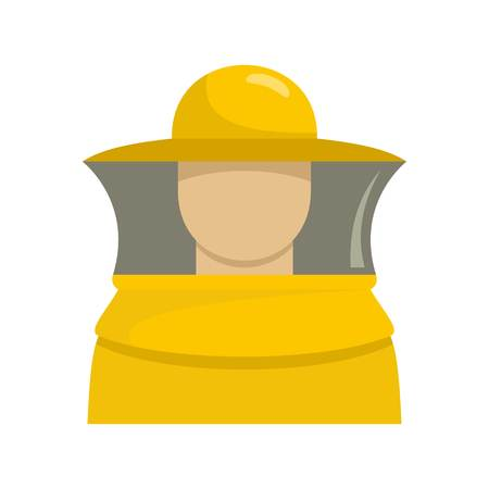 Beekeeper man icon. Flat illustration of beekeeper man vector icon for web isolated on white
